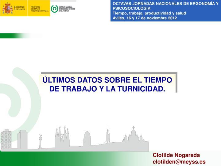 OCTAVAS JORNADAS NACIONALES DE ERGONOMÍA Y PSICOSOCIOLOGÍA