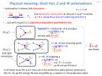 physical meaning drell yan z and w polarizations