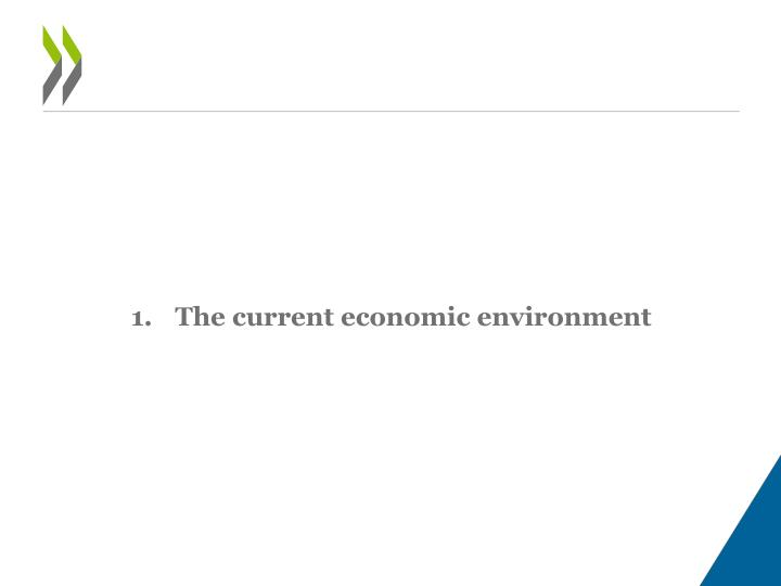The current economic environment