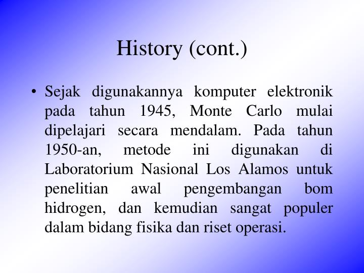 History (cont.)