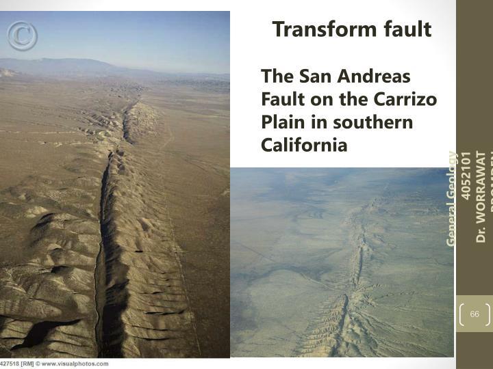 Transform fault
