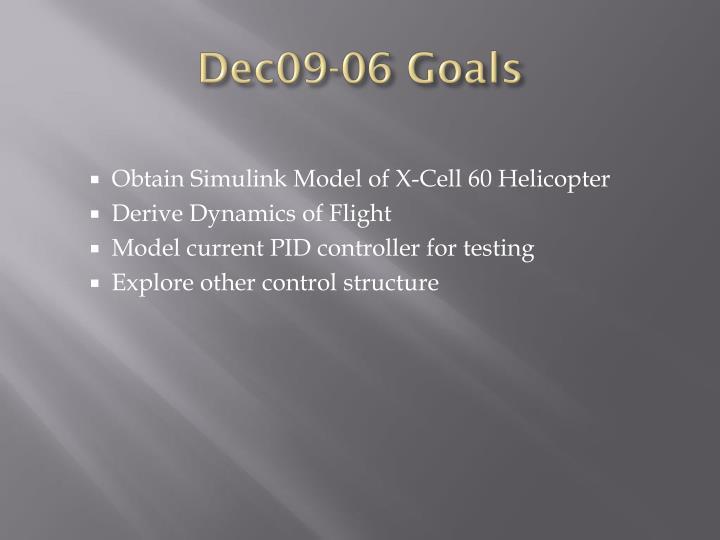 Dec09-06 Goals