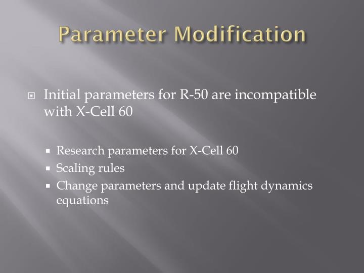 Parameter Modification