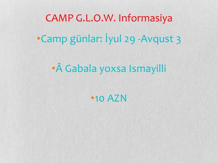 CAMP G.L.O.W.