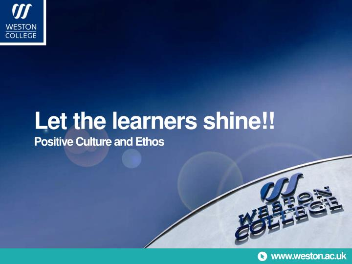 Let the learners shine!!