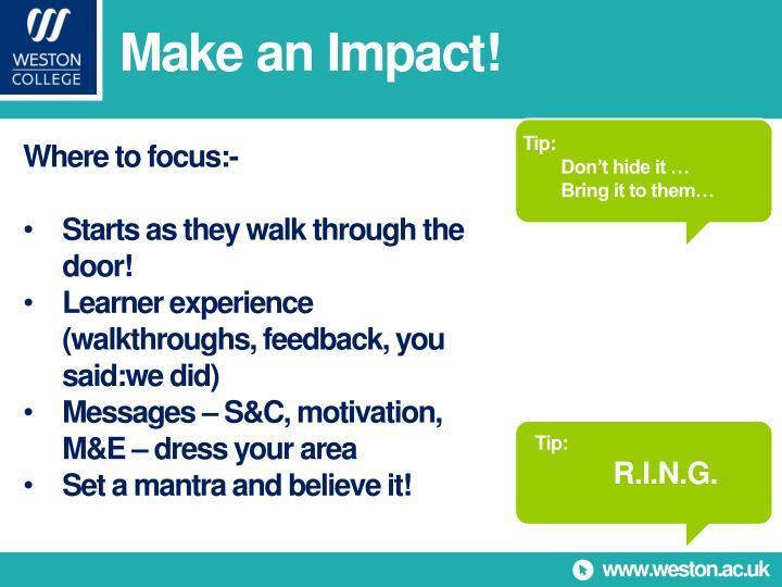 Make an Impact!
