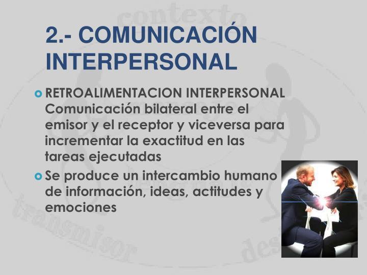 2.- COMUNICACIÓN
