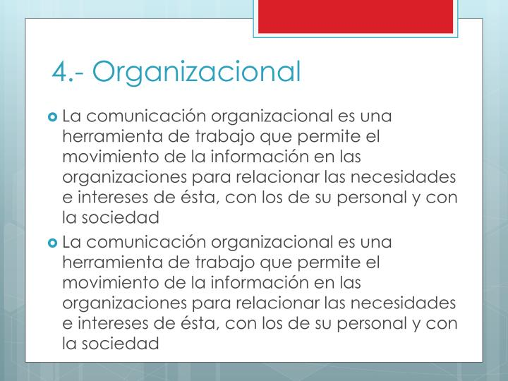 4.- Organizacional