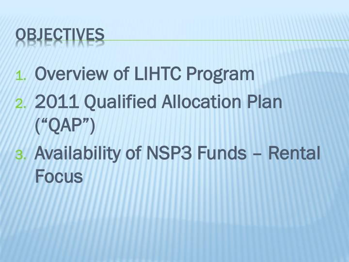 Overview of LIHTC Program