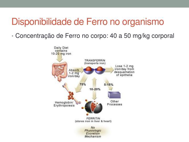 Disponibilidade de Ferro no organismo