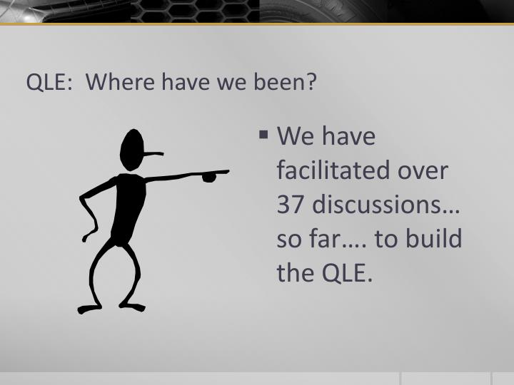 QLE:  Where have we been?