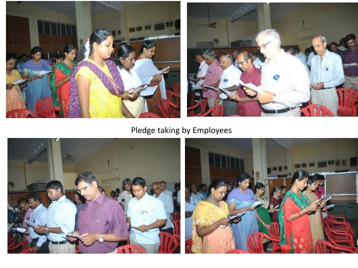 Pledge taking by Employees