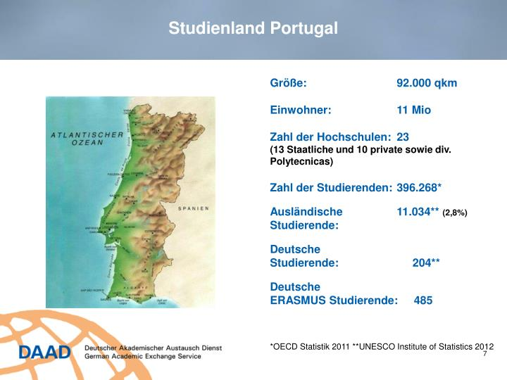 Studienland Portugal