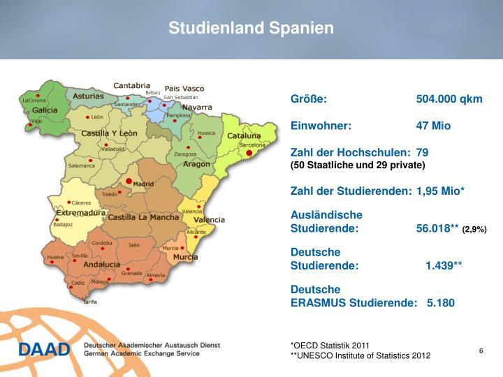 Studienland Spanien