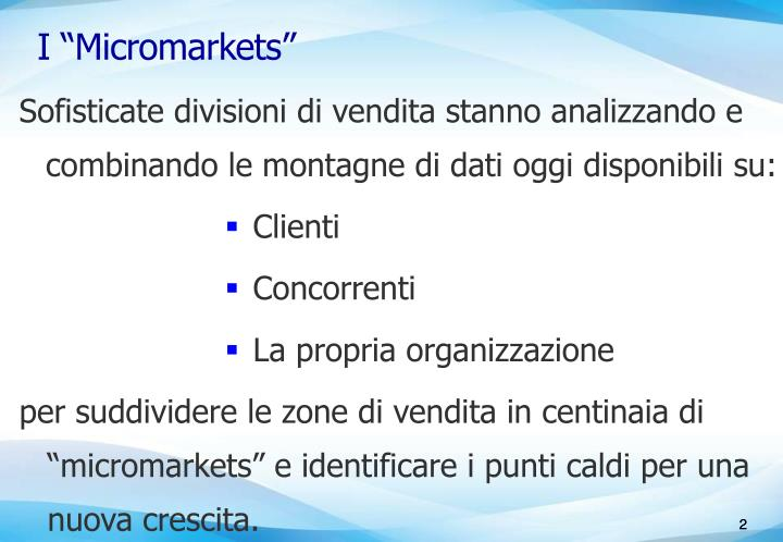 I micromarkets