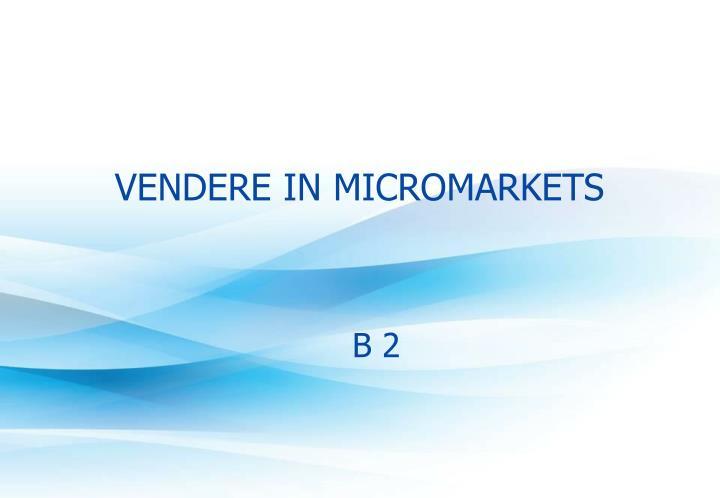 vendere in micromarkets