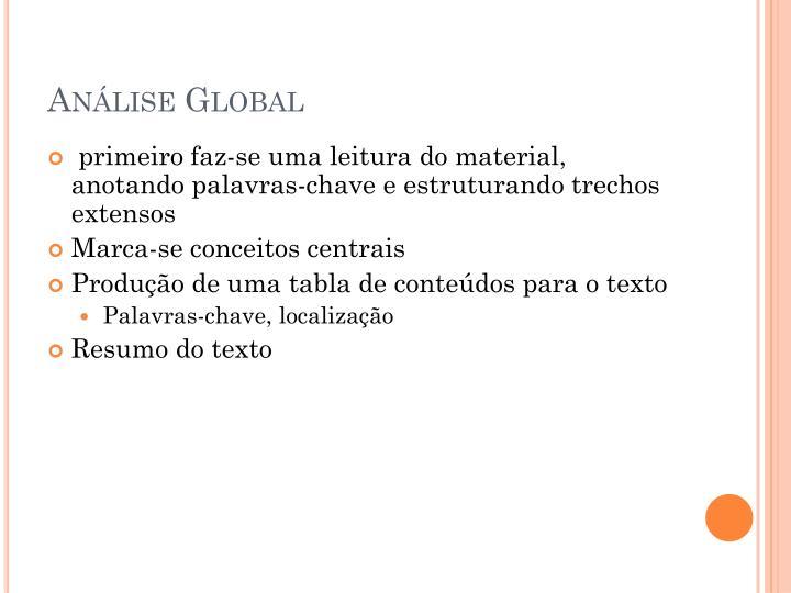 Análise Global