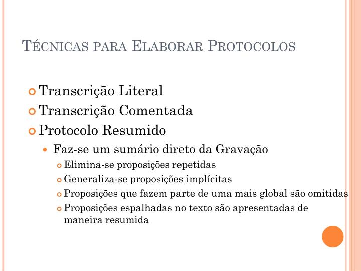 Técnicas para Elaborar Protocolos
