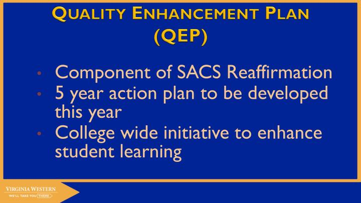 Quality enhancement plan qep1