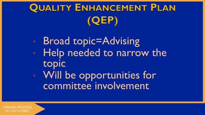 Quality enhancement plan qep2