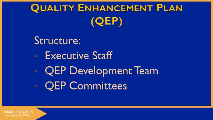Quality Enhancement Plan (QEP)
