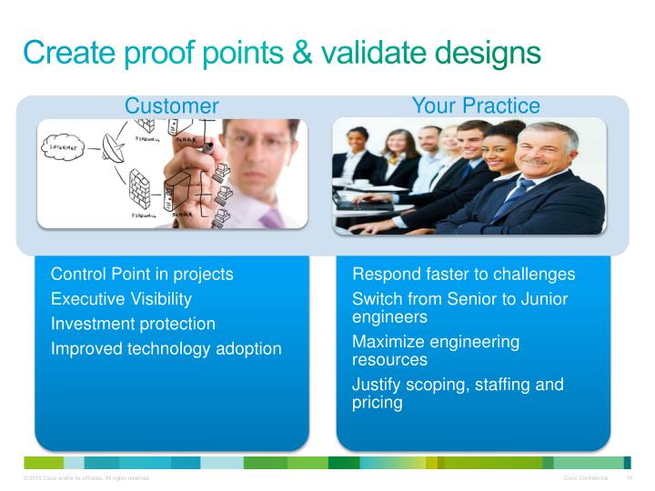 Create proof points & validate designs
