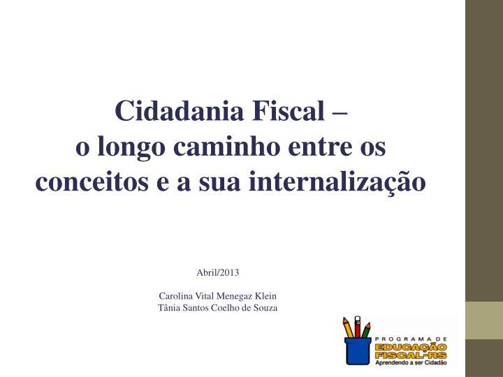 Cidadania Fiscal –
