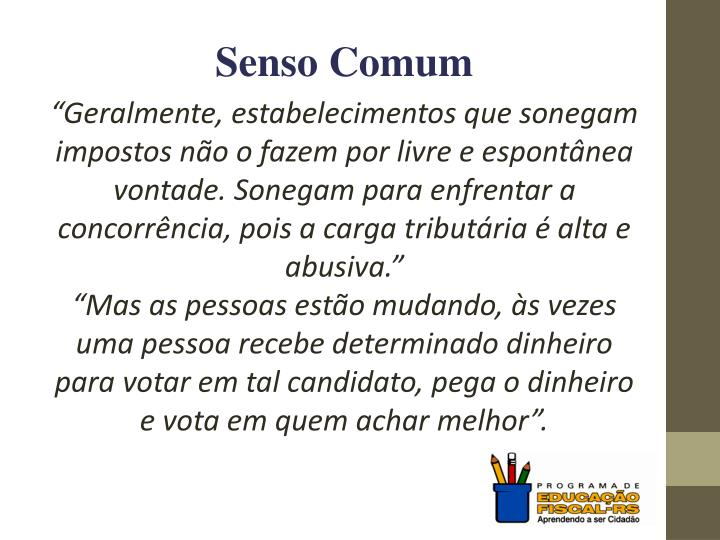 Senso Comum