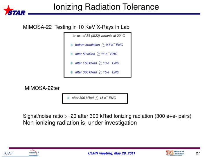 Ionizing Radiation Tolerance