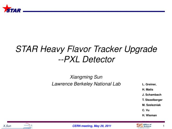 Star heavy flavor tracker upgrade pxl detector