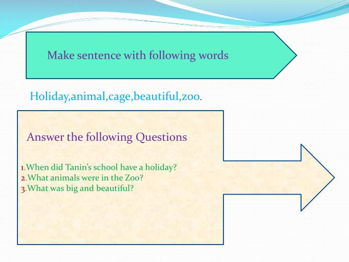 Make sentence with following words