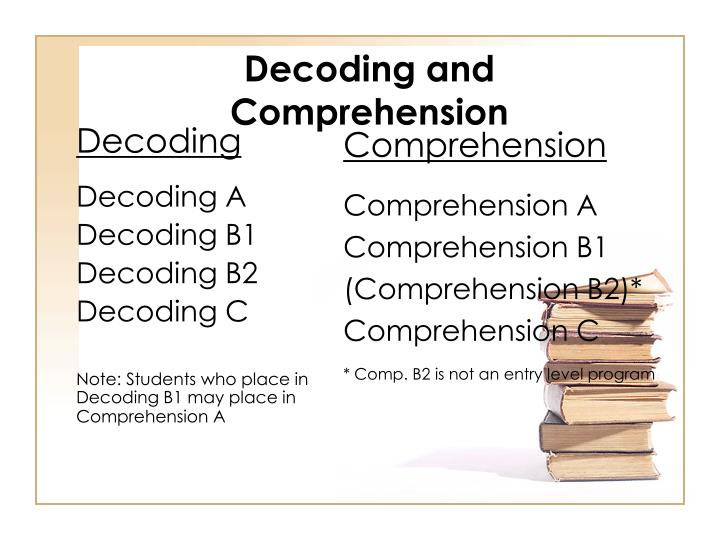 Decoding and Comprehension