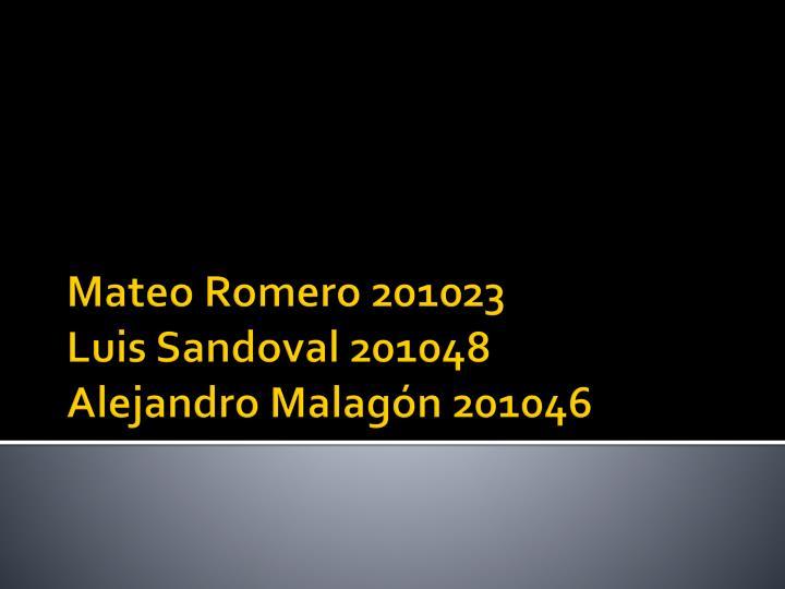 Mateo Romero 201023