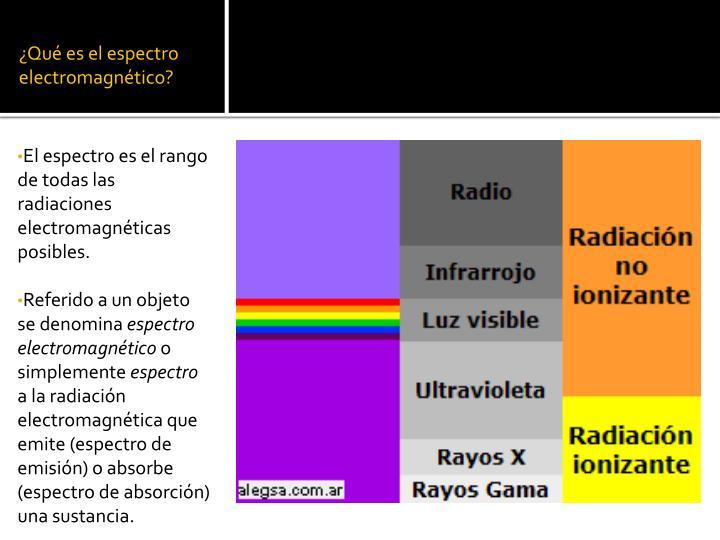 ¿Qué es el espectro electromagnético?