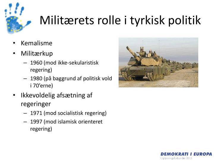 Militærets rolle i tyrkisk politik