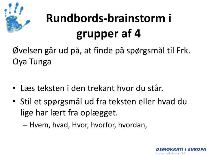 Rundbords-brainstorm i