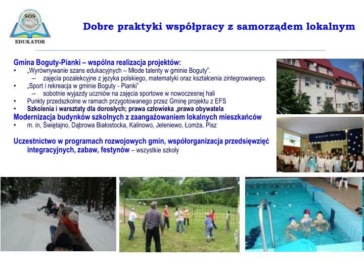 Gmina Boguty-Pianki – wspólna realizacja projektów: