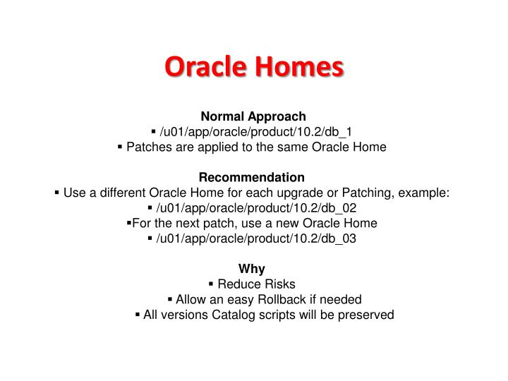 Oracle Homes