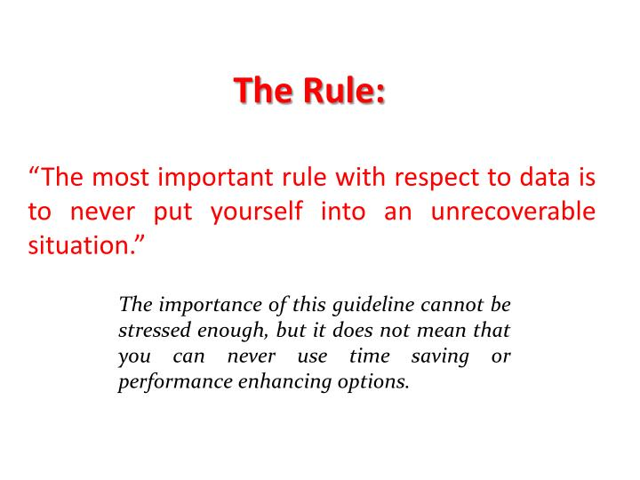 The Rule: