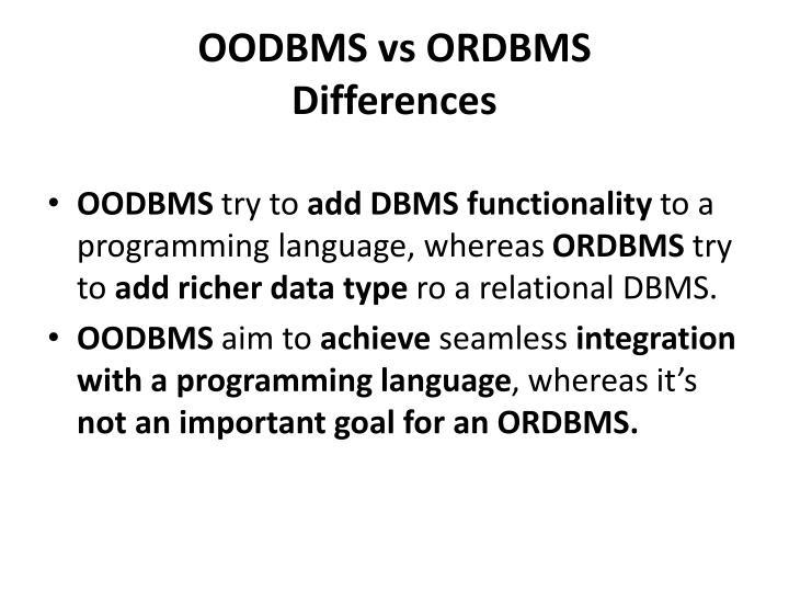 OODBMS