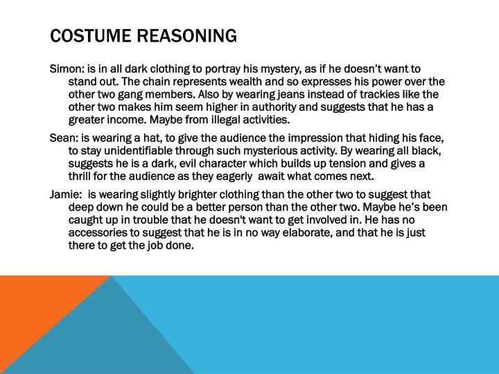 Costume reasoning