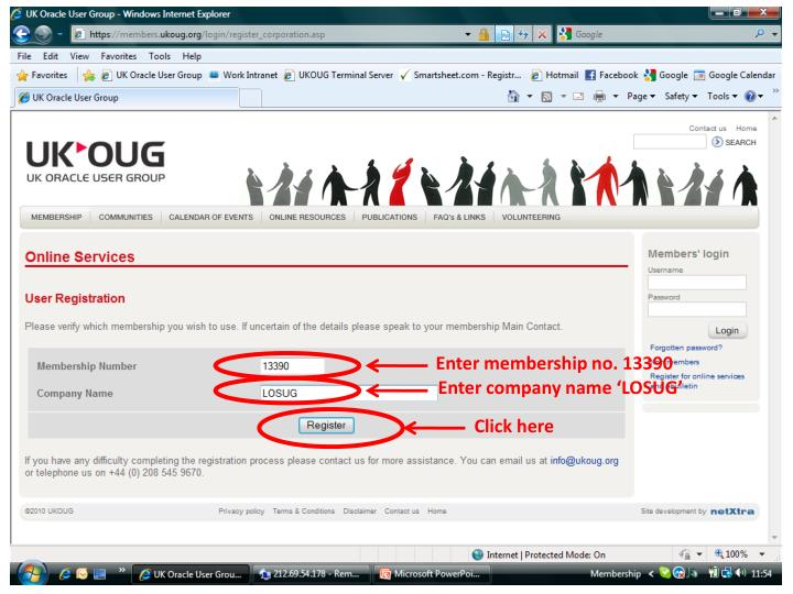 Enter membership no. 13390