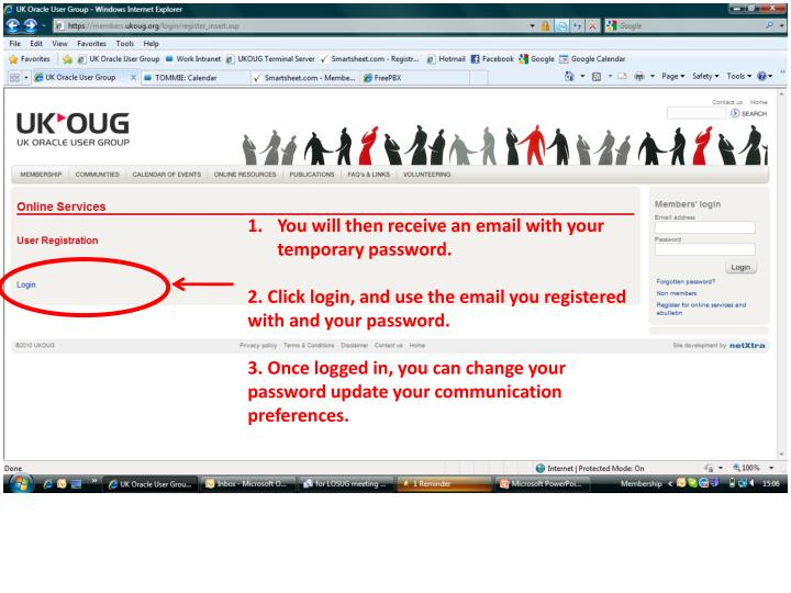 You will then receive an email with your temporary password.
