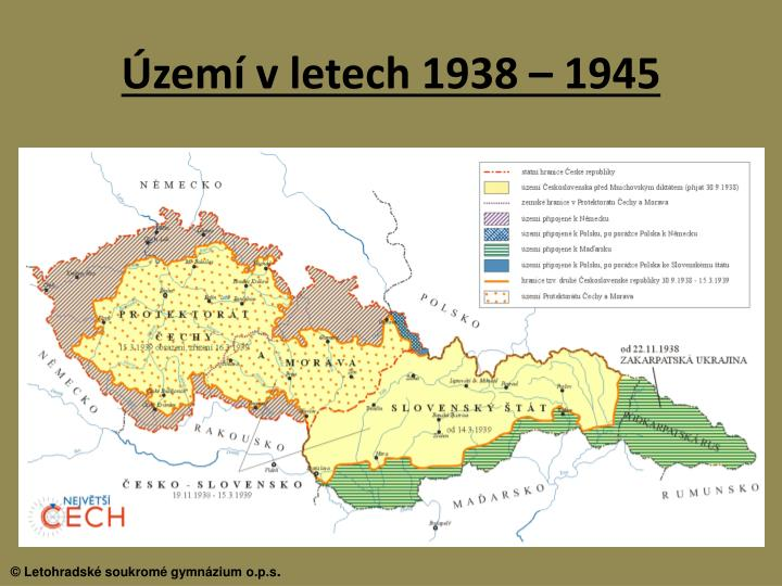 Území v letech 1938 – 1945