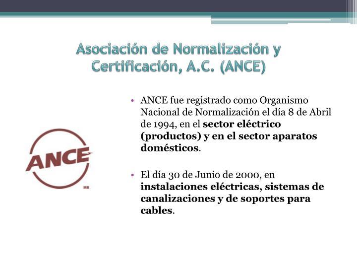 Asociación de Normalización y