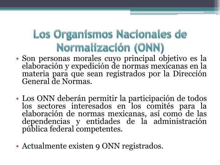 Los Organismos Nacionales de Normalización (ONN)