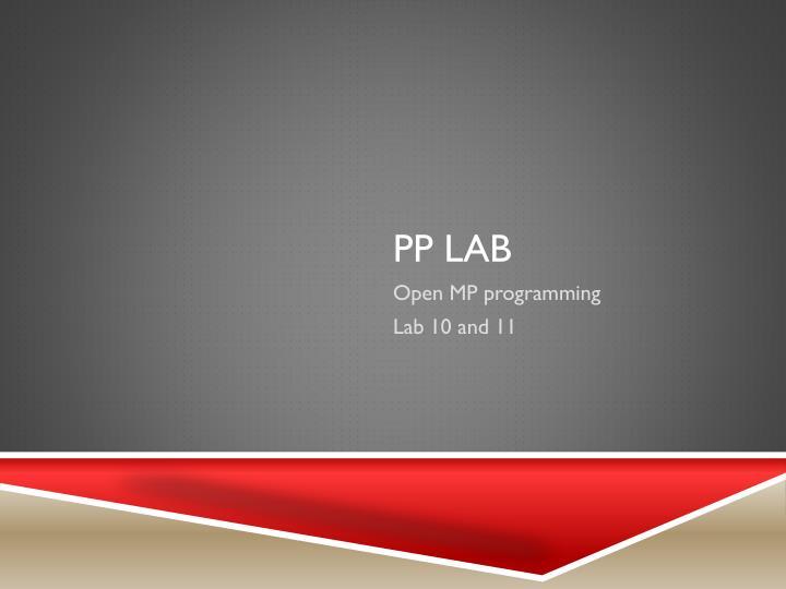 PP Lab
