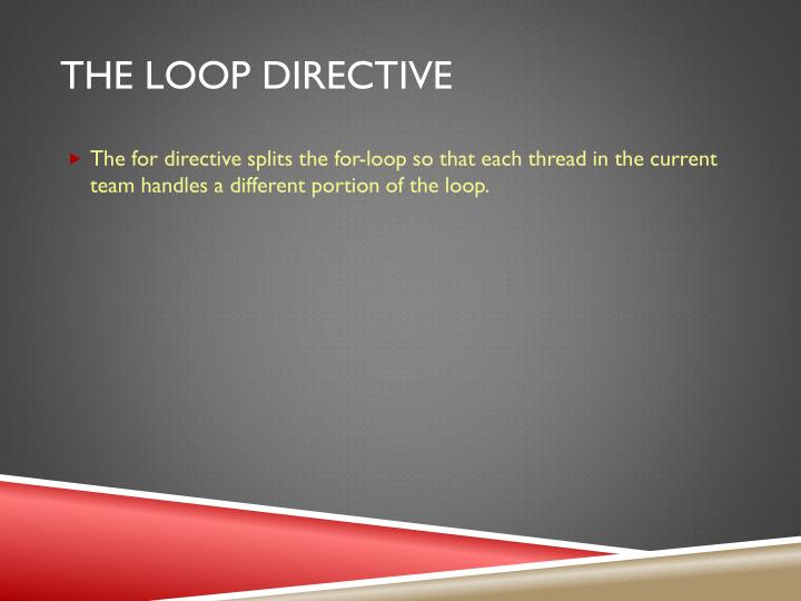 The loop directive