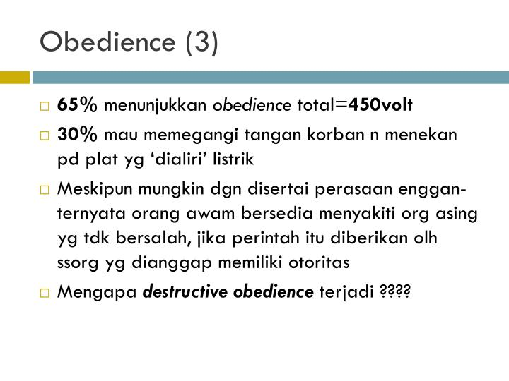 Obedience (3)