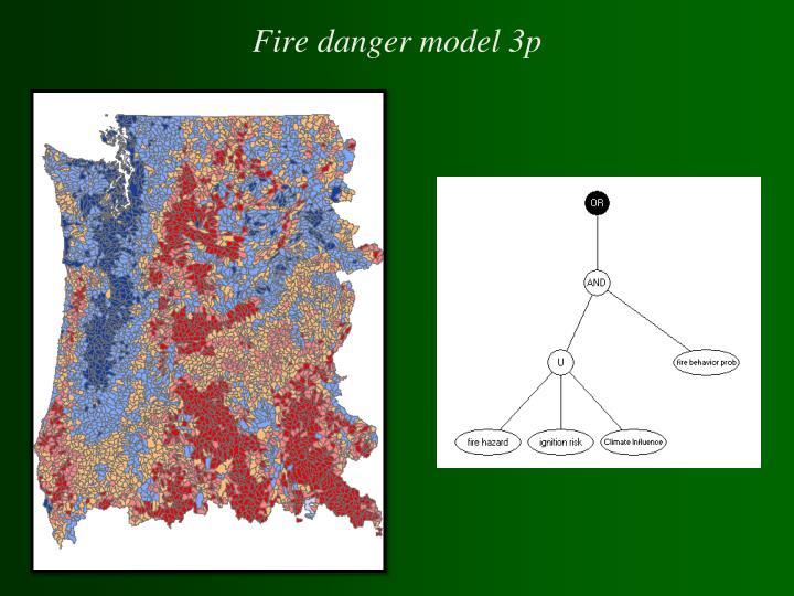 Fire danger model 3p